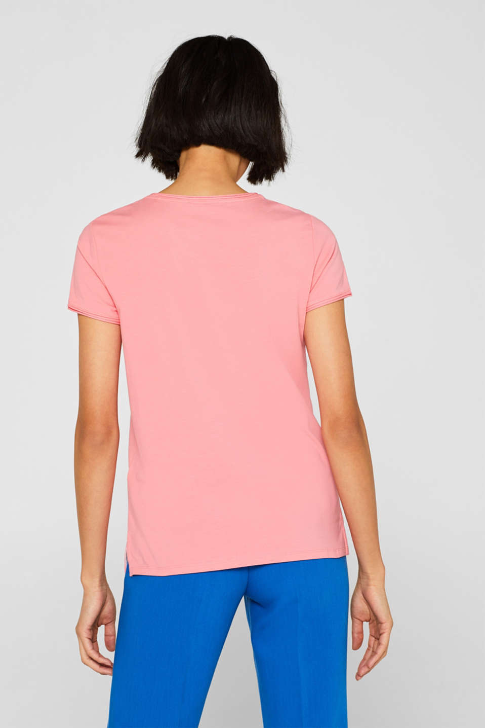 Stretch T-shirt with organic cotton, PINK, detail image number 3