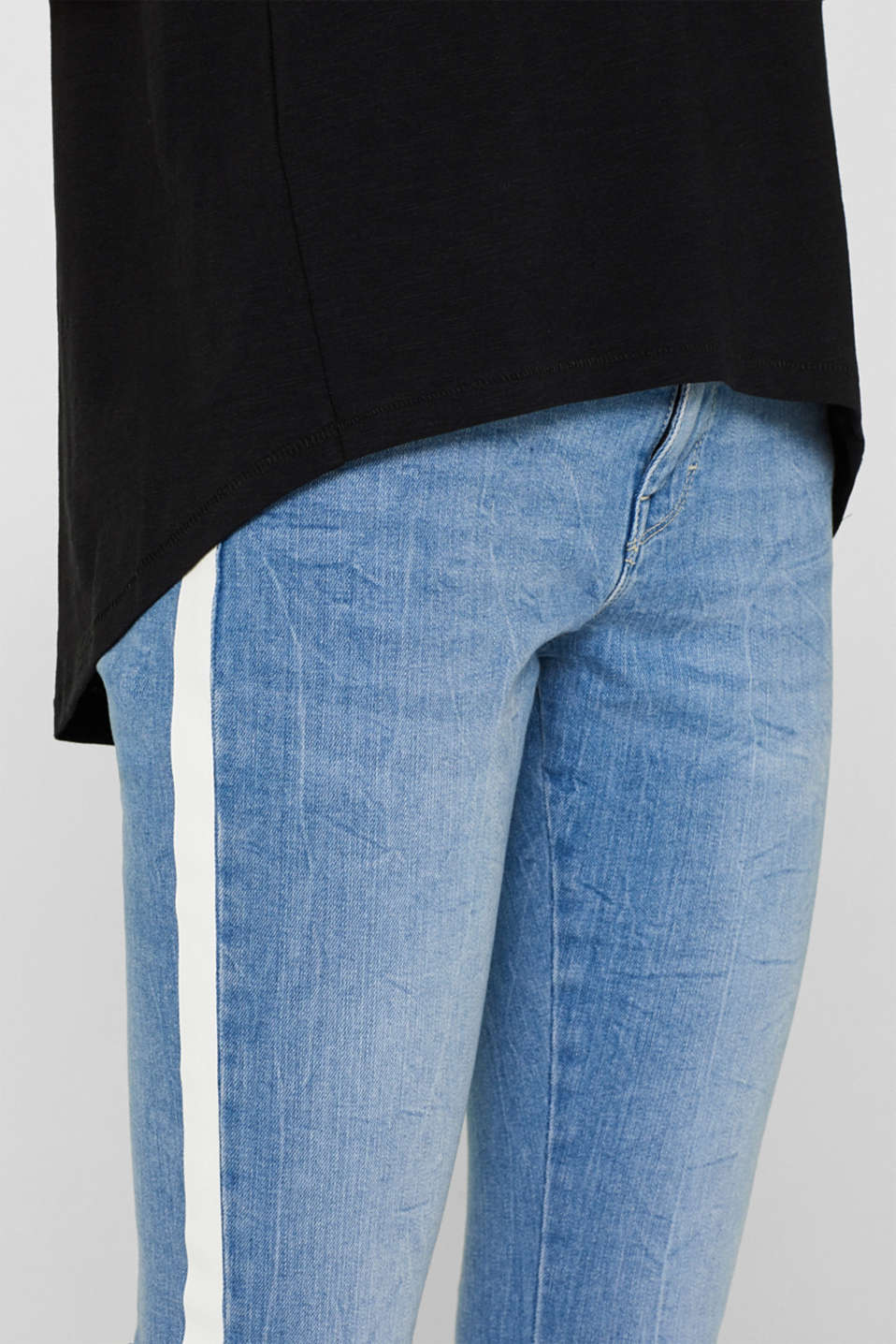 Slub T-shirt with organic cotton, 100% cotton, BLACK, detail image number 2