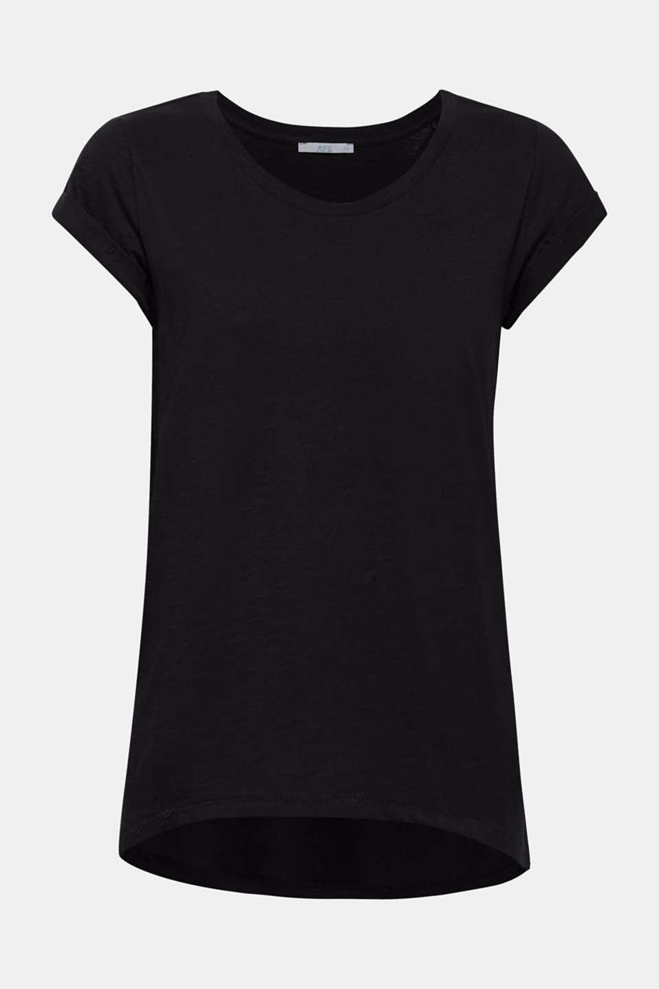 Slub T-shirt with organic cotton, 100% cotton, BLACK, detail image number 6