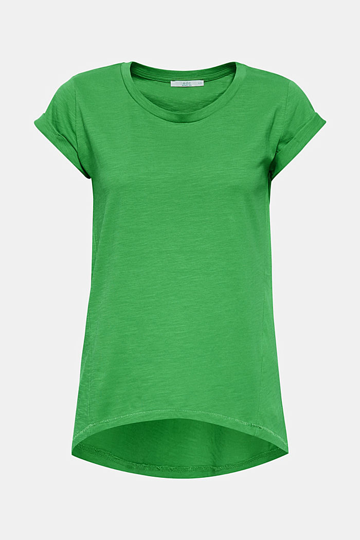 Slub-Shirt mit Organic Cotton, 100% Baumwolle, DARK GREEN 3, detail image number 0