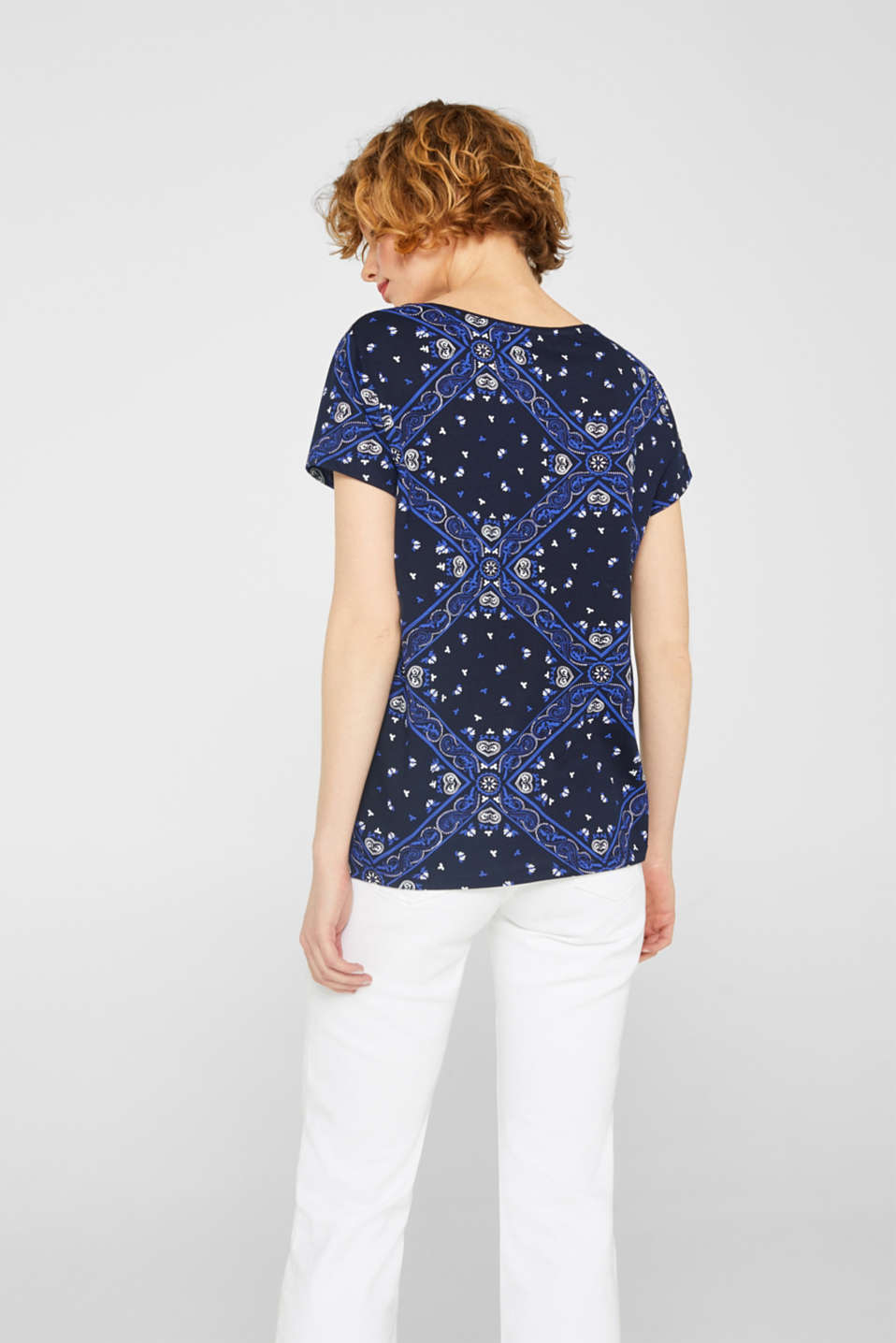 T-shirt with an all-over print, 100% cotton, NAVY, detail image number 3