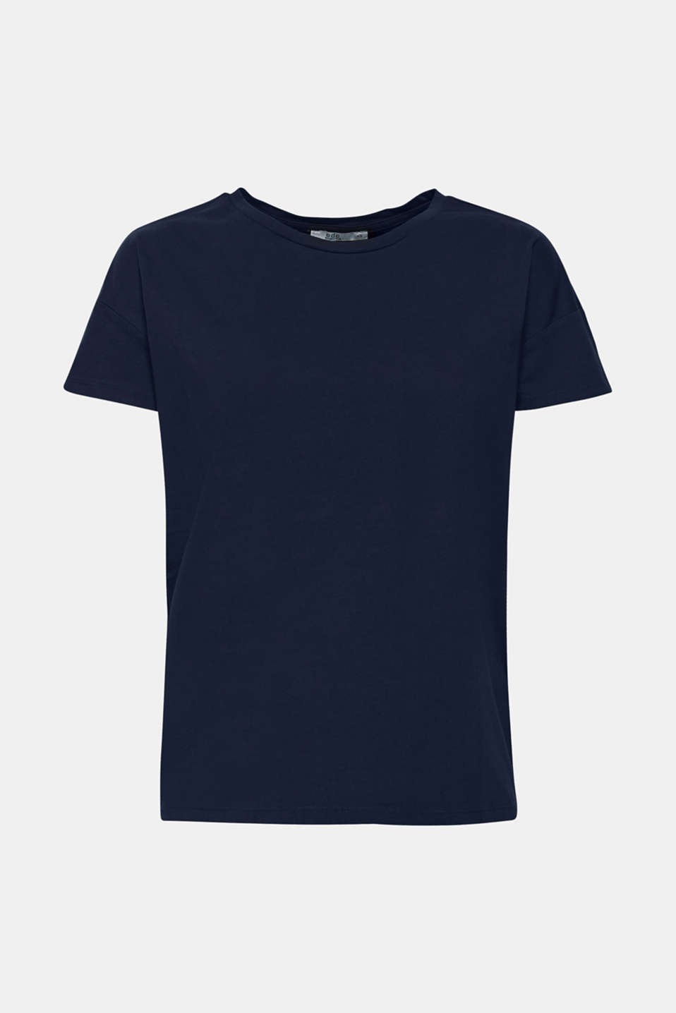 100% cotton oversized top, NAVY, detail image number 5