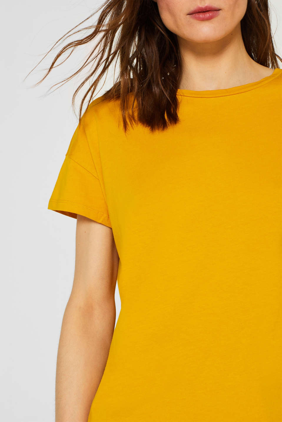 100% cotton oversized top, HONEY YELLOW 4, detail image number 2