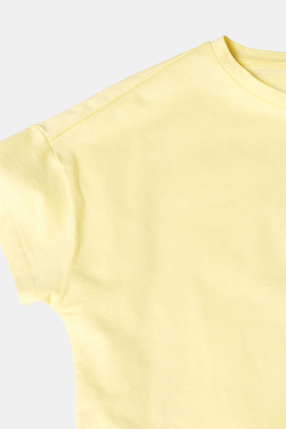 100% cotton oversized top, LIGHT YELLOW 4, detail image number 4