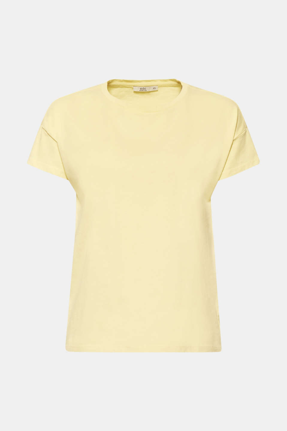 100% cotton oversized top, LIGHT YELLOW 4, detail image number 7
