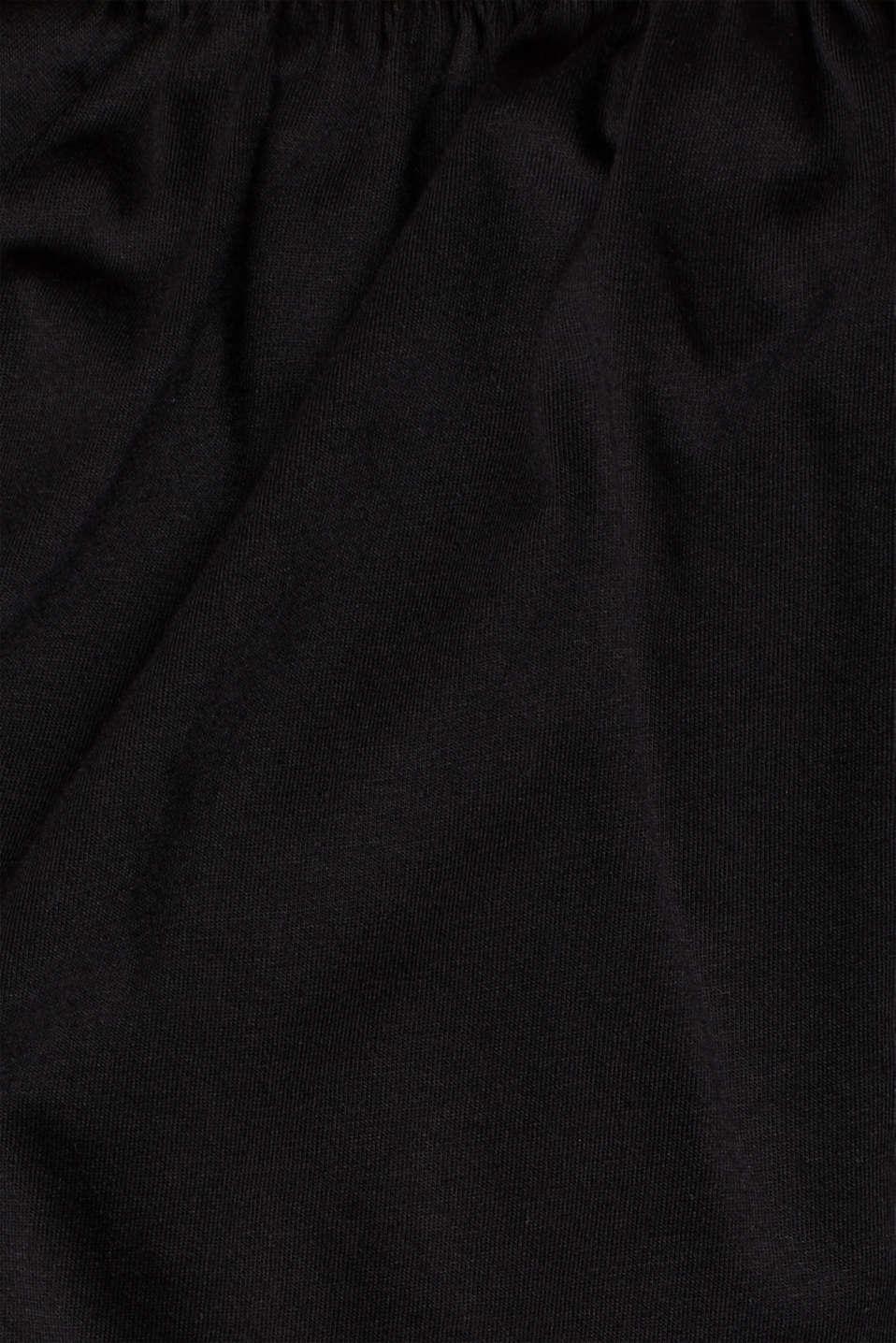 T-Shirts, BLACK, detail image number 4