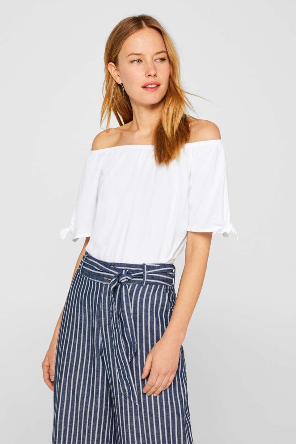 Carmen T-shirt with pretty sleeves, WHITE, detail image number 0
