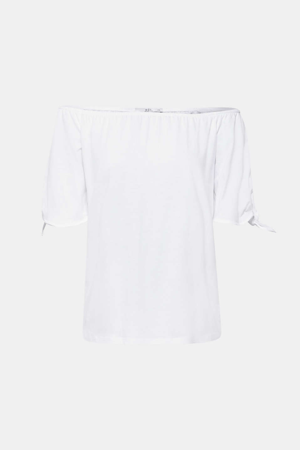 Carmen T-shirt with pretty sleeves, WHITE, detail image number 6