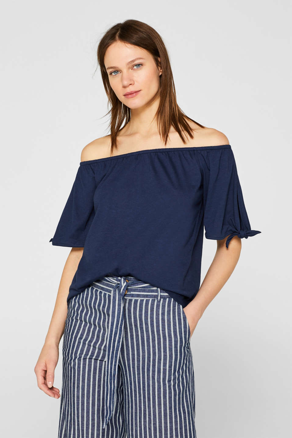 edc - Carmen T-shirt with pretty sleeves