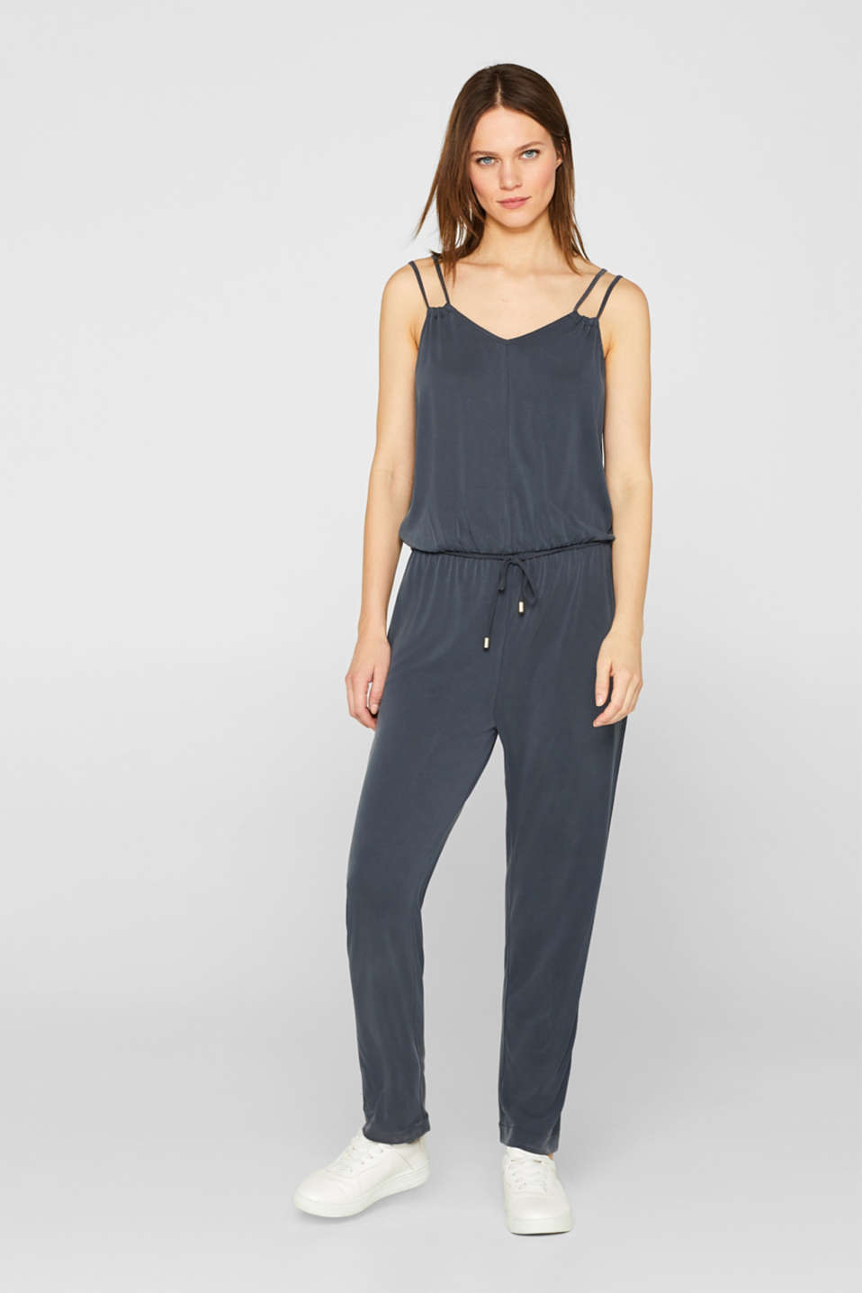 edc - Jersey jumpsuit with double straps