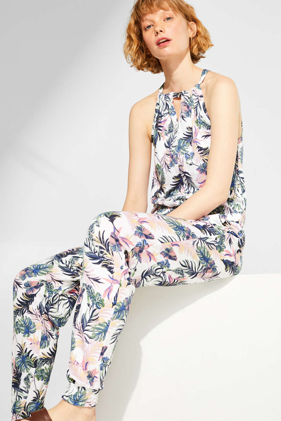 edc - Print jumpsuit in stretch/jersey