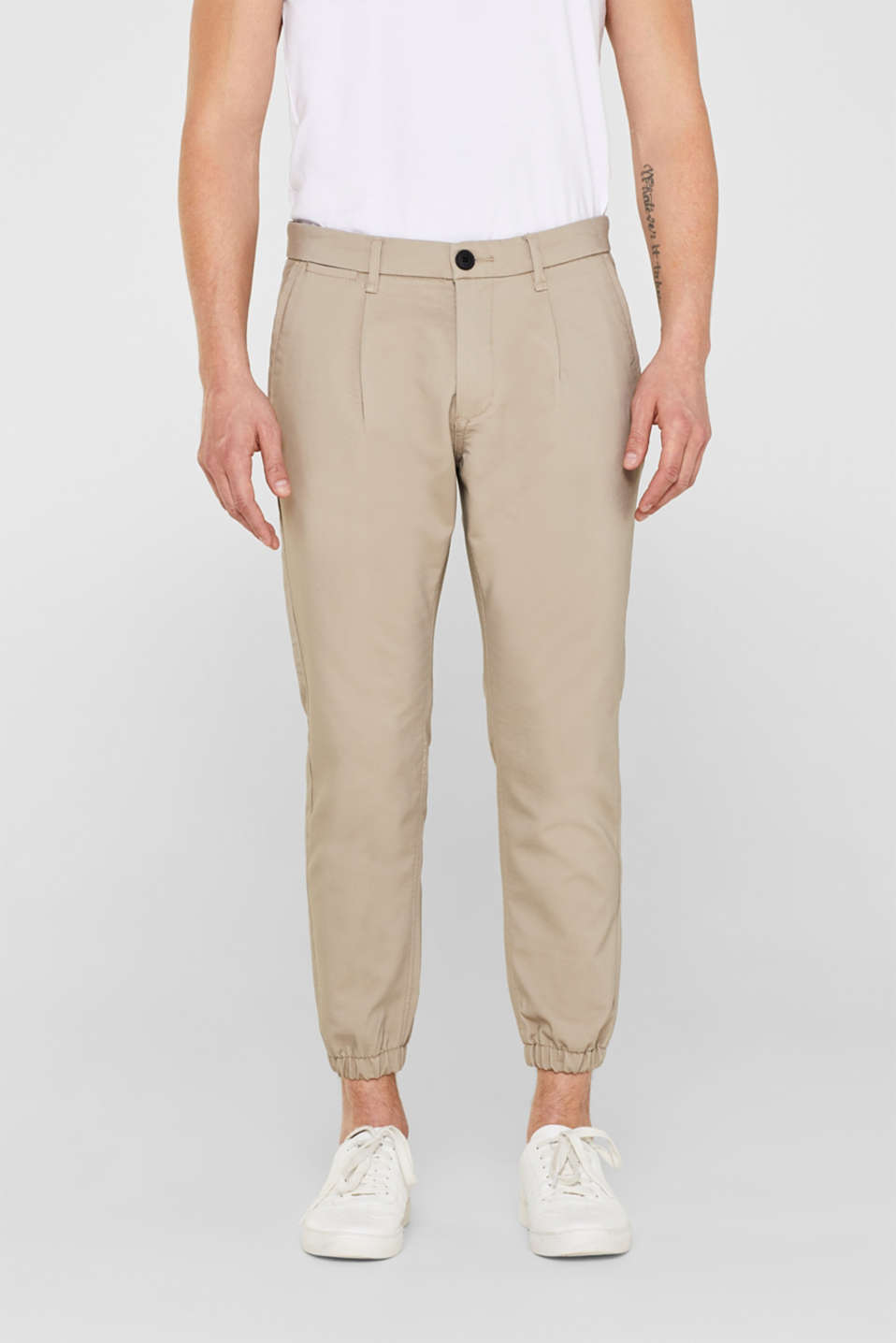 edc - Stretch trousers with elasticated waistband