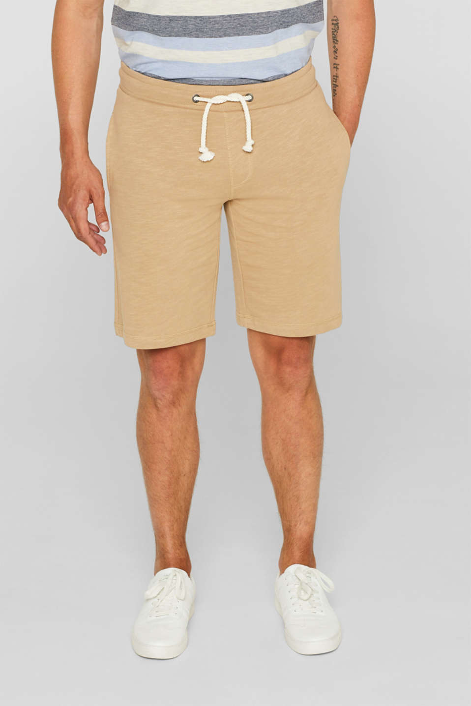 edc - Sweat-Shorts aus 100% Baumwolle