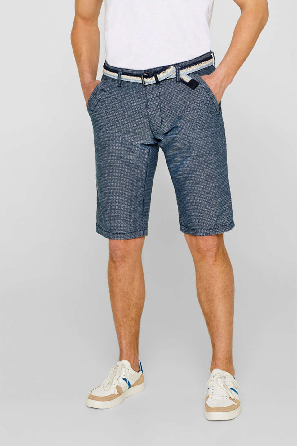 edc - Chambray shorts in 100% cotton