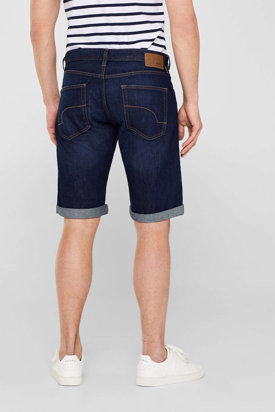 Shorts denim, BLUE DARK WASH, detail image number 3