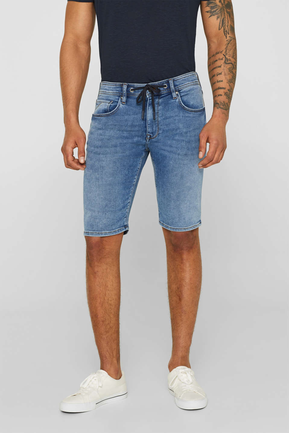 edc - Short en matière jogging super stretch d'aspect jean