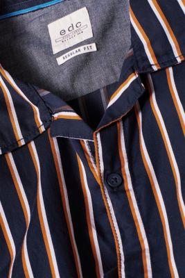 Short sleeve shirt with a Cuban collar, 100% cotton