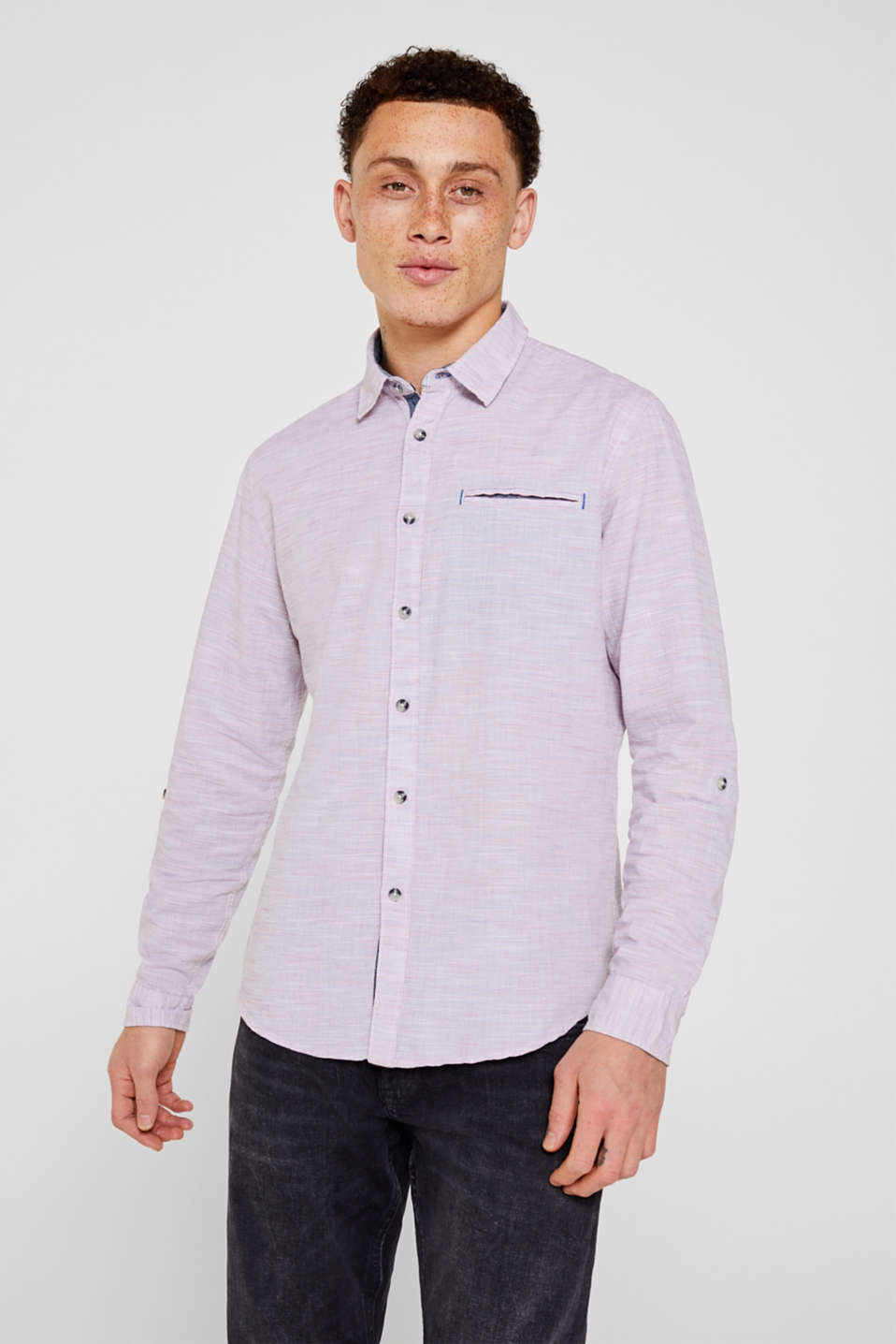 ESPRIT CASUAL Fein gestreiftes Hemd, 100% Baumwolle online