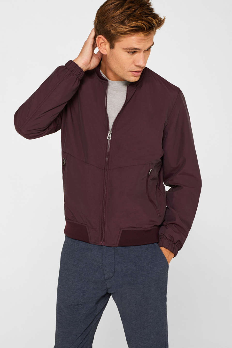 edc - Bomber jacket in textured nylon