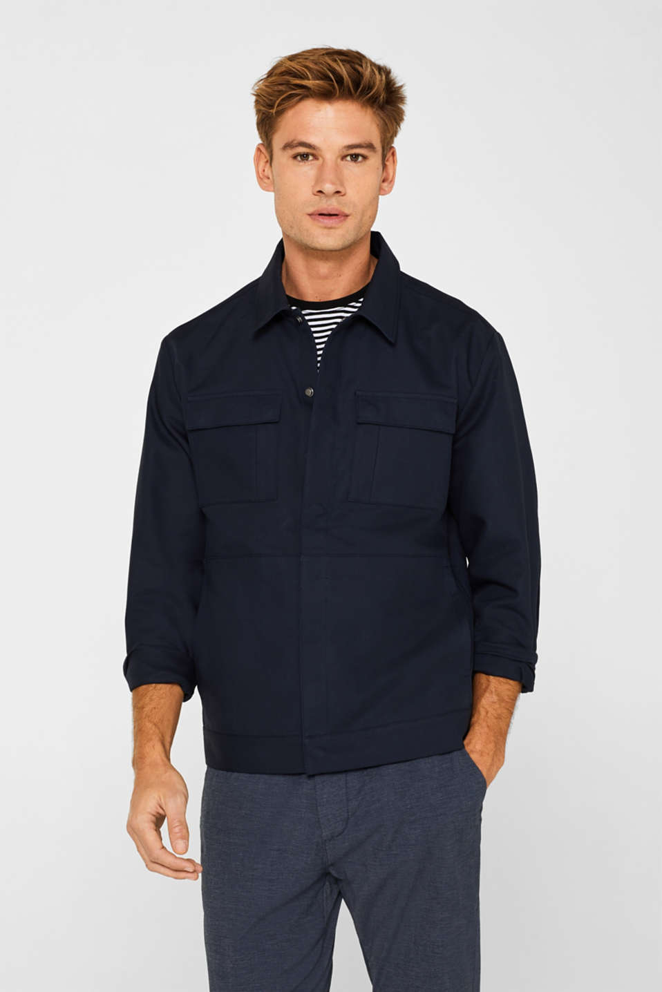 edc - Unlined utility-style jacket in 100% cotton