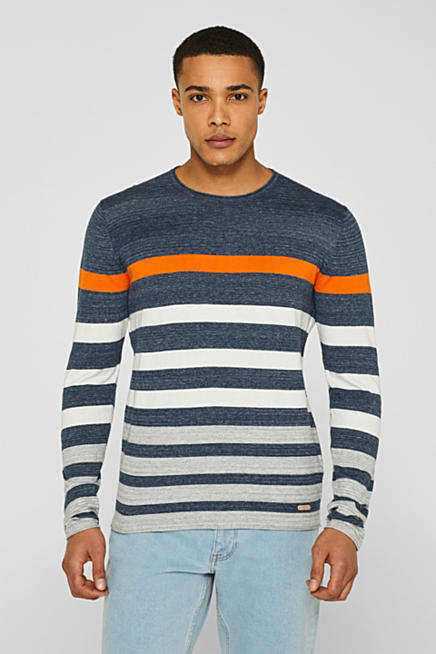 e2c66c06571 Striped jumper in 100% cotton