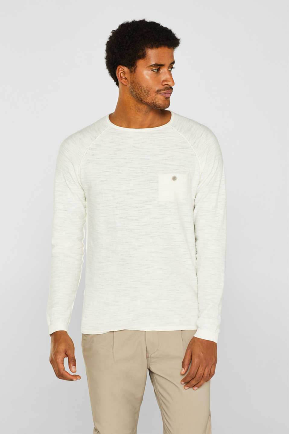 edc - Pull-over flammé, 100 % coton