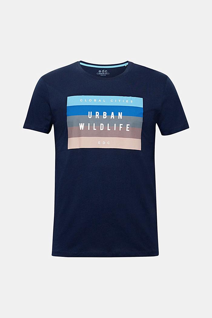 Jersey-Shirt aus 100% Baumwolle, NAVY, detail image number 0