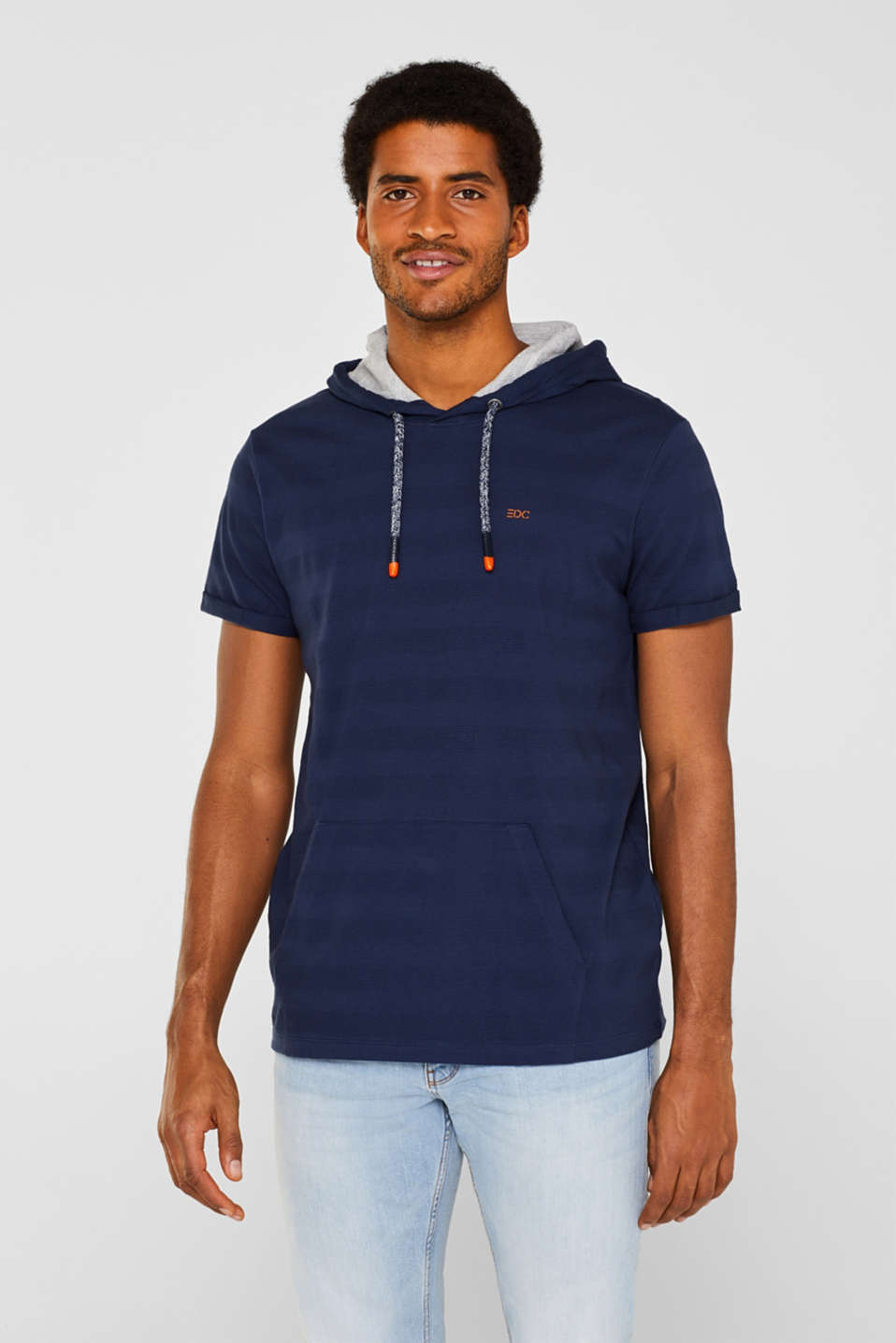 Hoodie top in 100% cotton