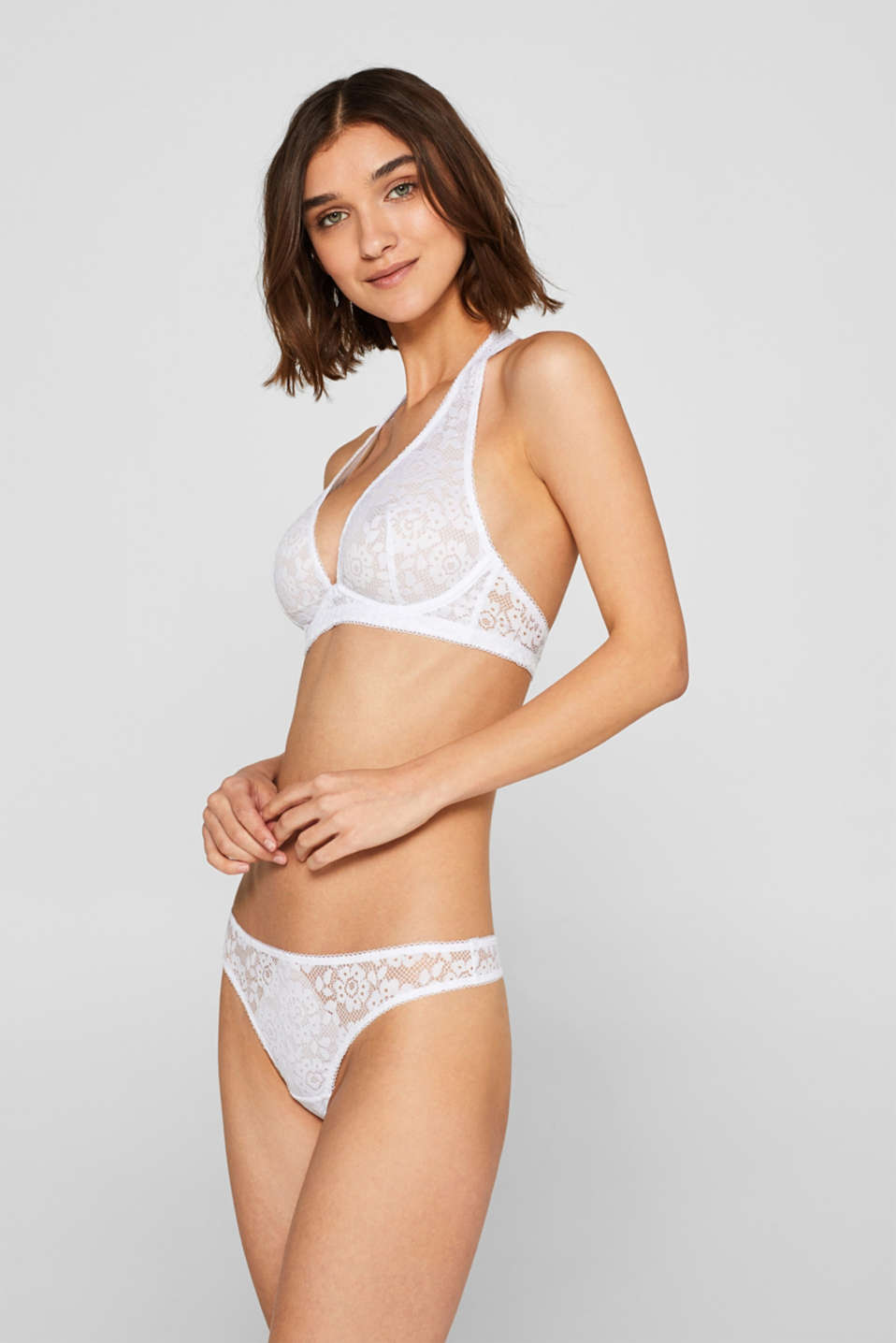 edc - Unpadded underwire bra in floral lace