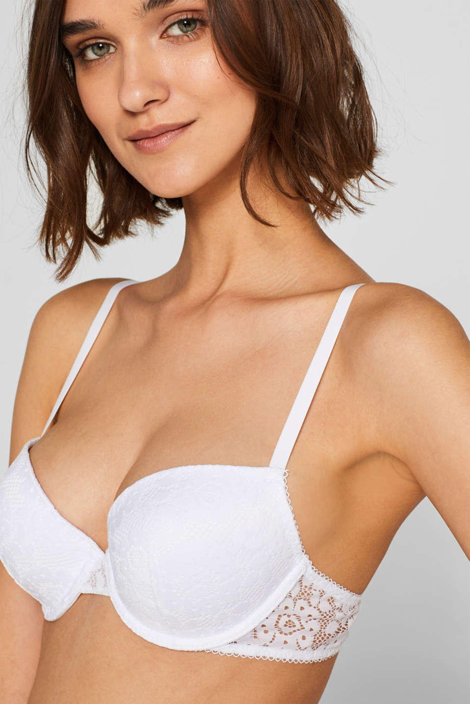 Bras with wire, WHITE, detail image number 2