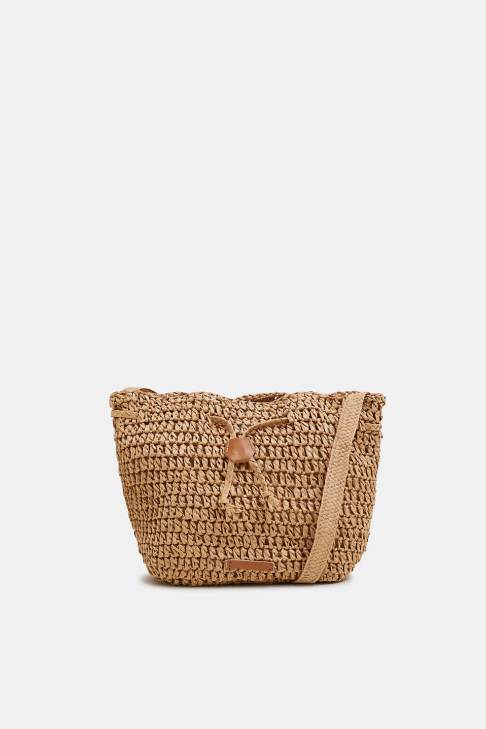 Esprit - Woven straw bucket bag