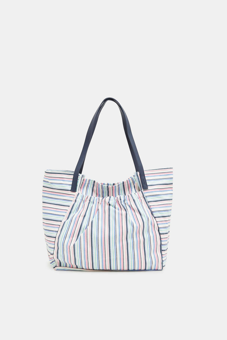 Esprit - Canvas shopper with colourful stripes