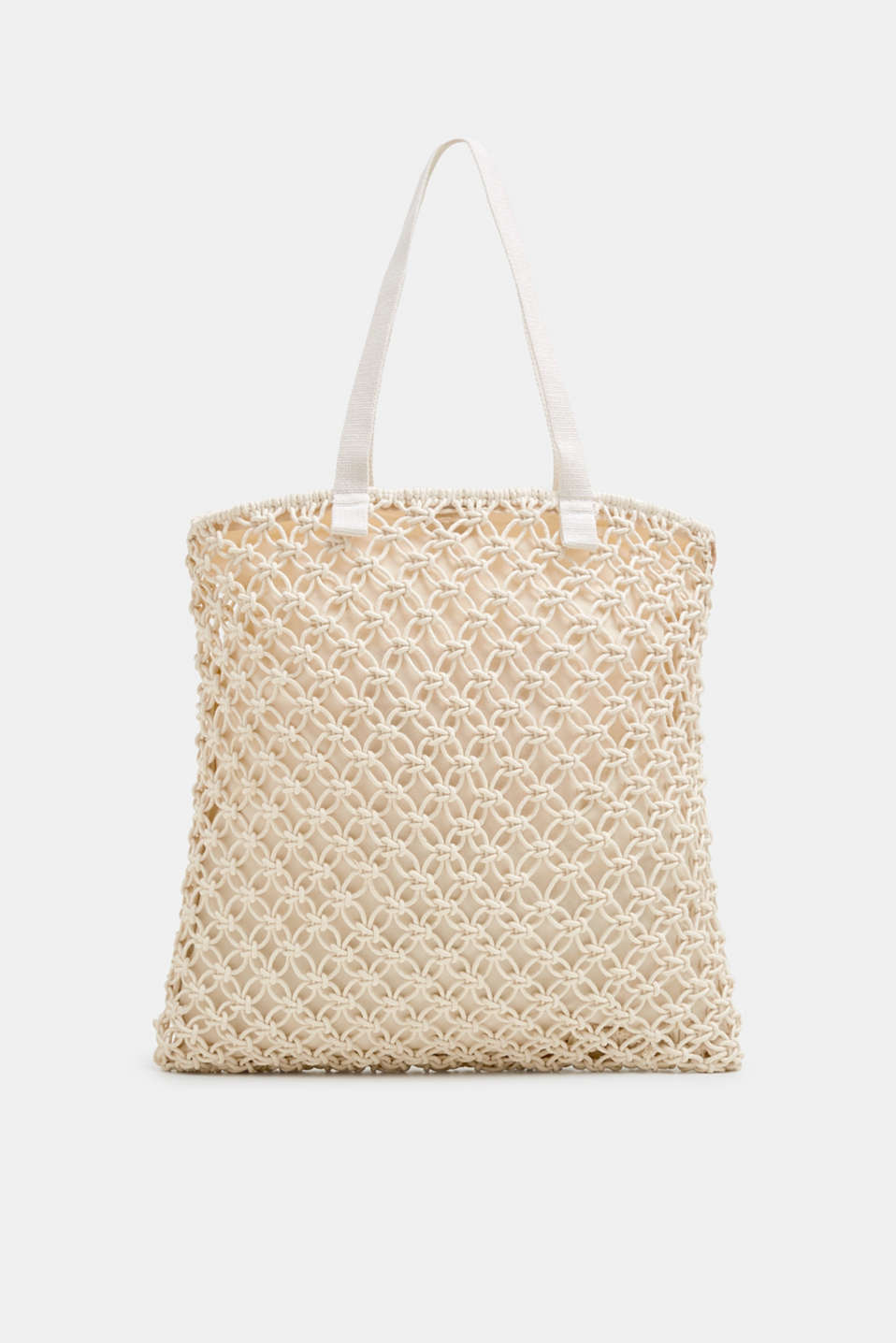 Esprit - Crocheted shopper made of 100% cotton