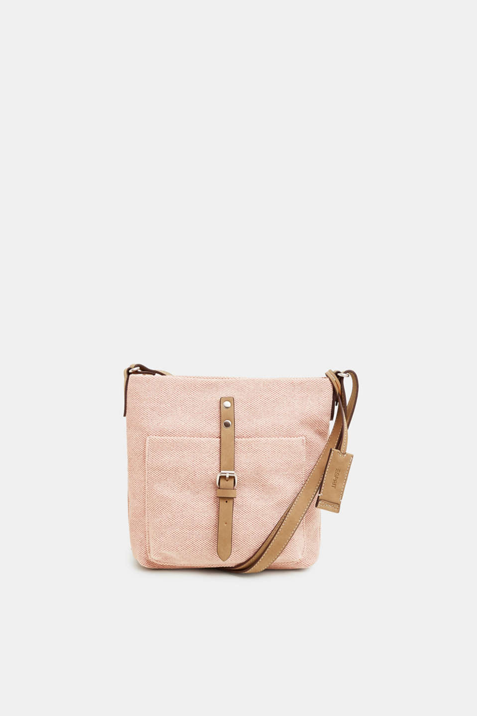Esprit - Small shoulder bag made of cotton canvas