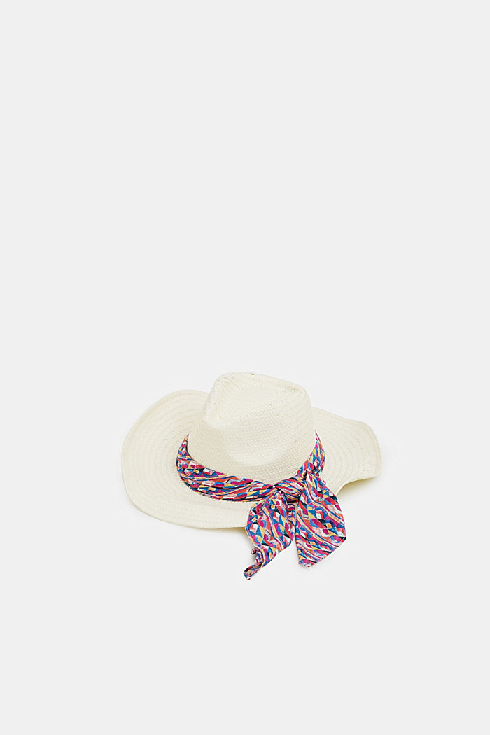 Fedora hat with a bandana, OFF WHITE, detail image number 0