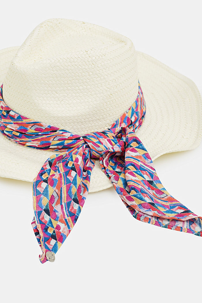 Fedora hat with a bandana, OFF WHITE, detail image number 1