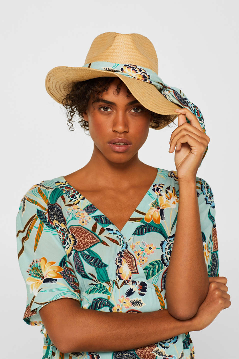 Fedora hat with a bandana