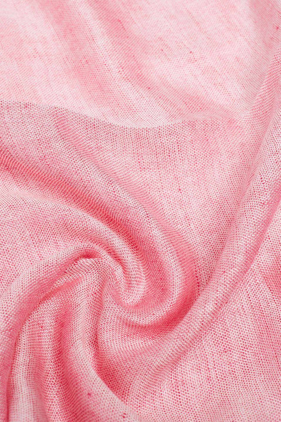 Made of blended linen: Snood with a fine texture, PINK FUCHSIA, detail image number 2