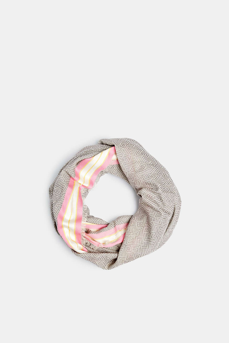 Esprit - Snood with a graphic print and stripes