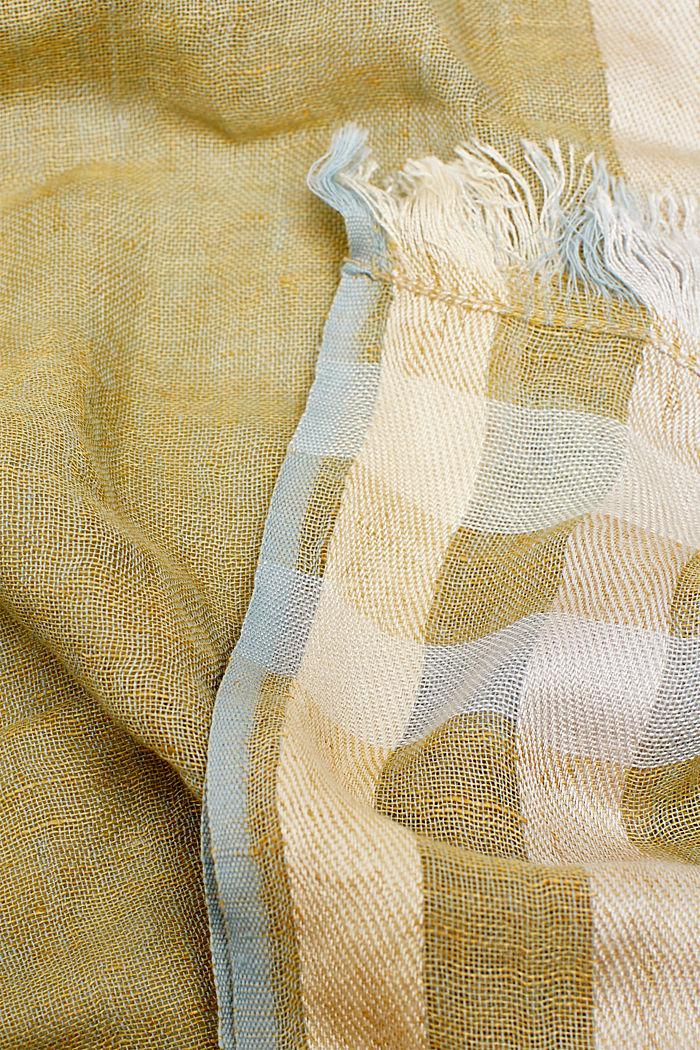 Linnenmix: gemêleerde sjaal, KHAKI BEIGE, detail image number 1
