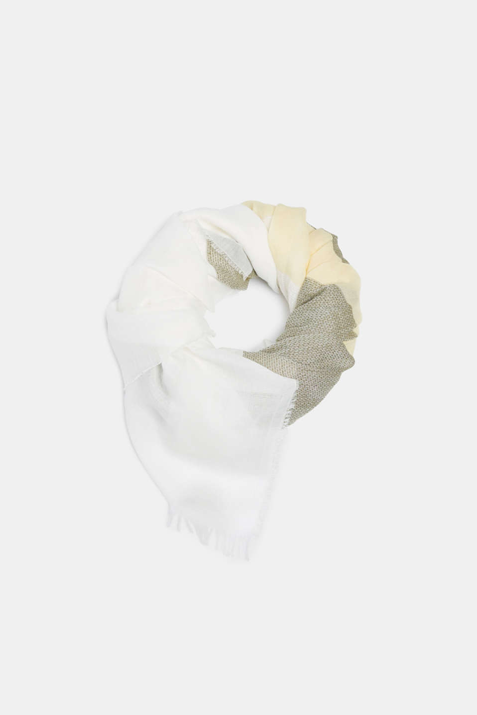 Esprit - With linen: textured striped scarf