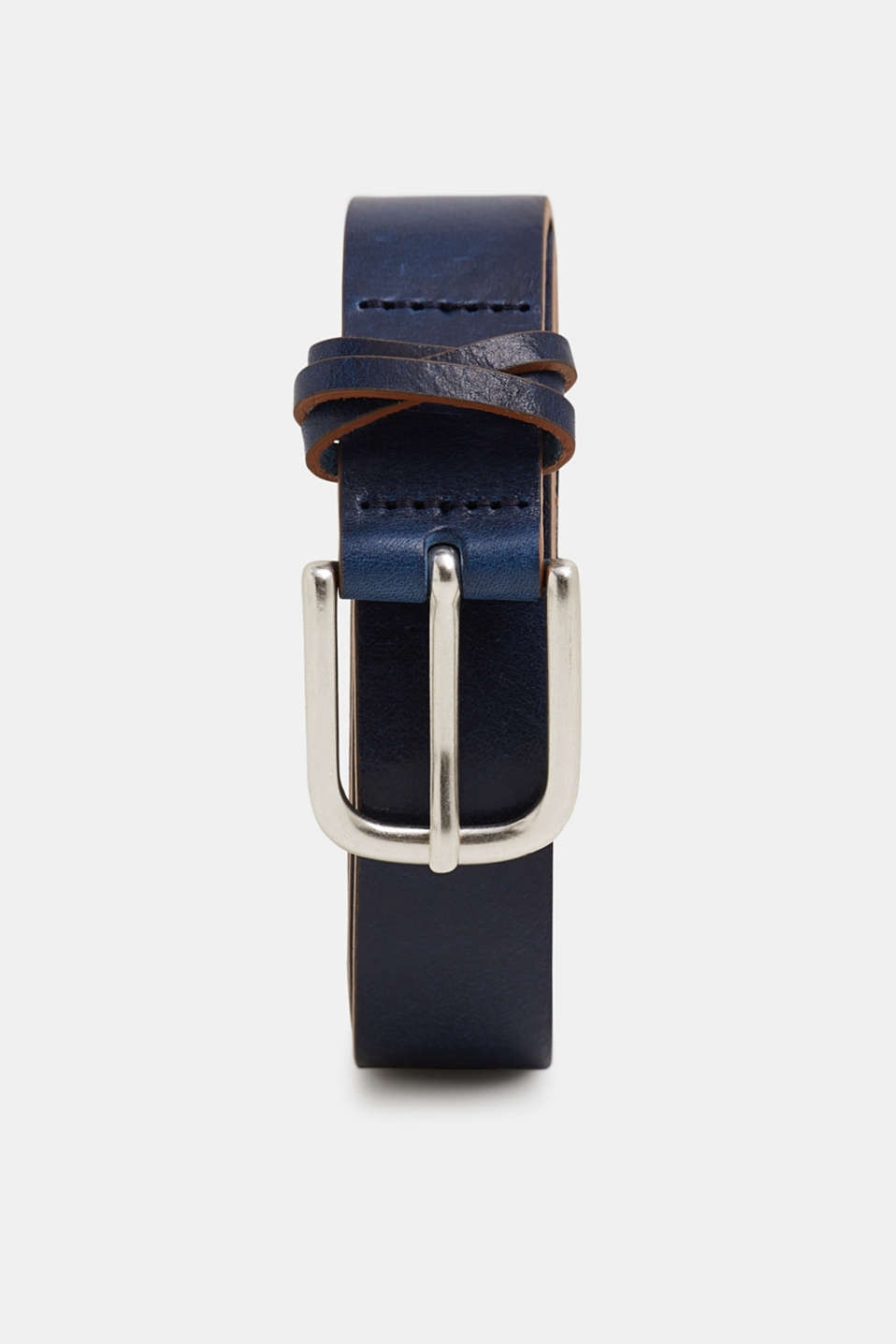 Esprit - Leather belt with coloured edges