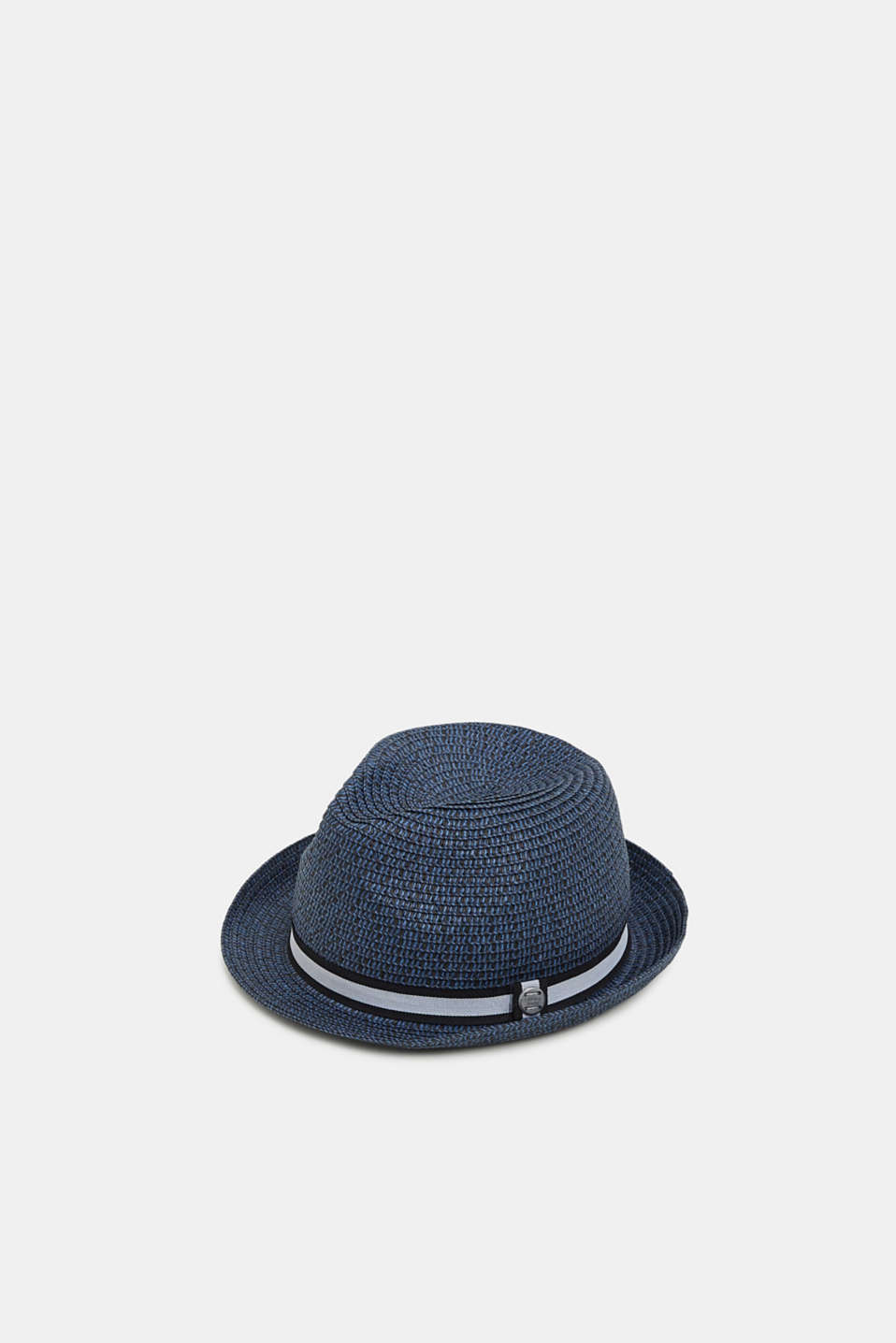 Trilby hat with a striped band, NAVY, detail image number 0
