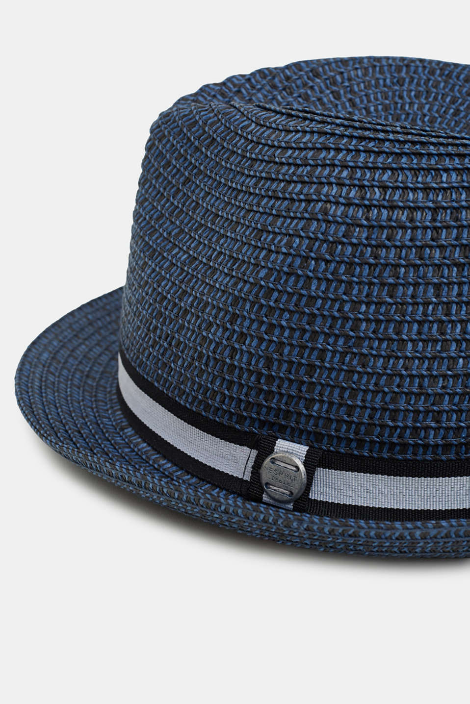 Trilby hat with a striped band, NAVY, detail image number 1