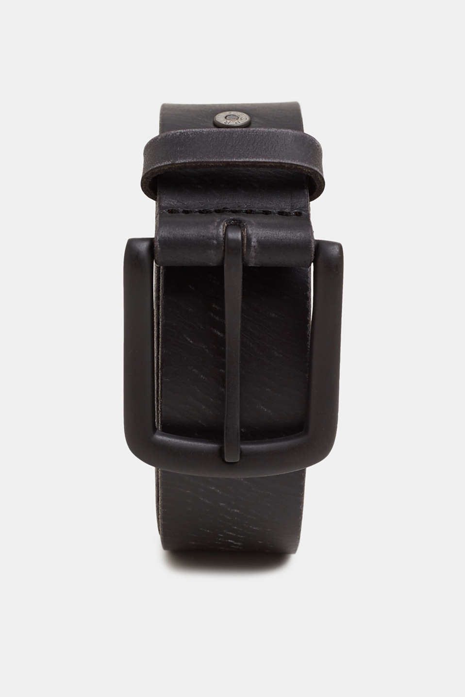 Esprit - Leather belt with a vintage finish
