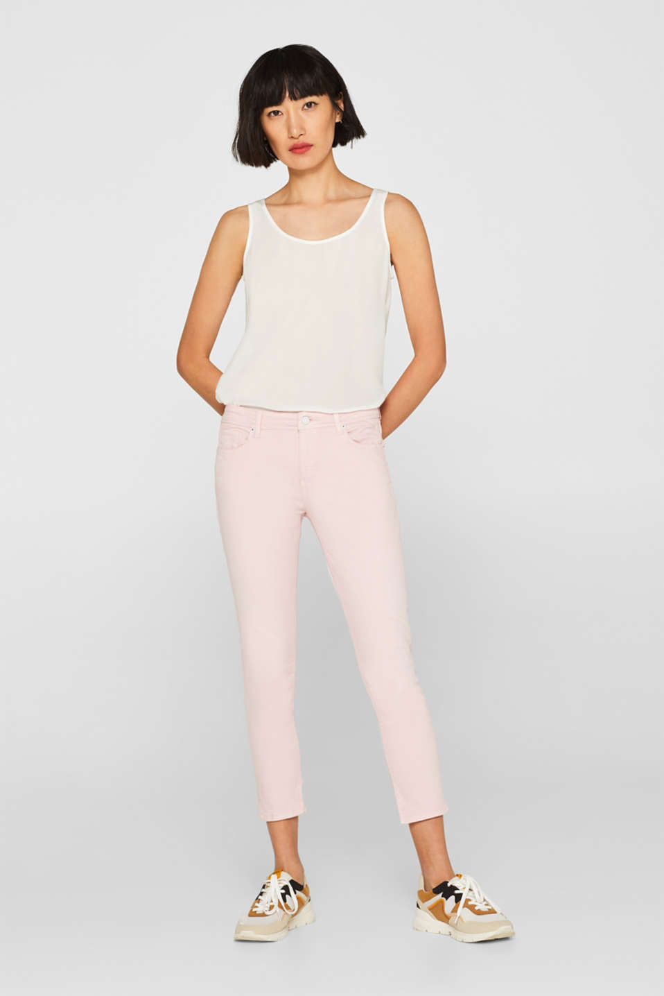 Ankle-length stretch jeans with organic cotton