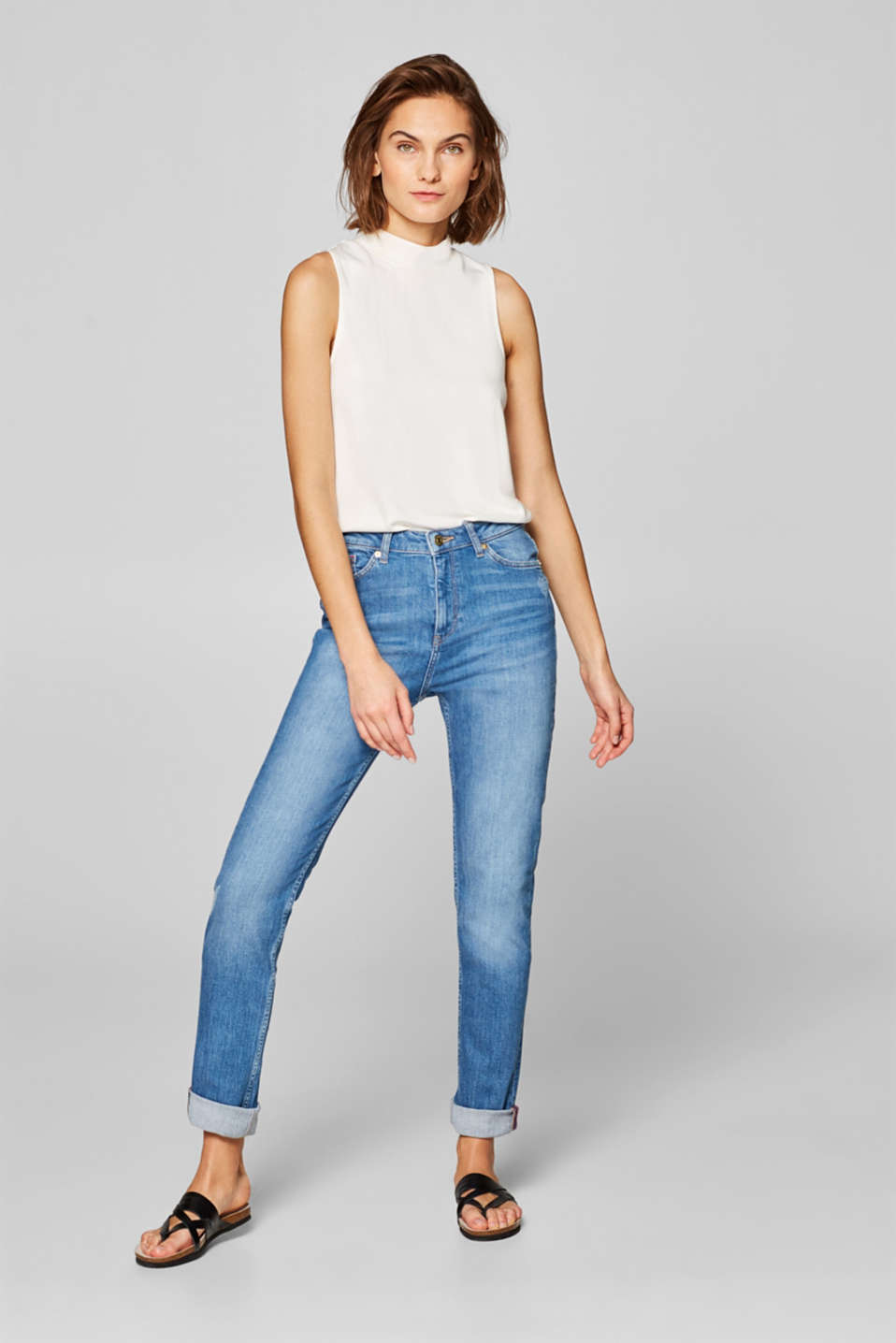 Esprit - Stretch-Jeans im Girlfriend-Look