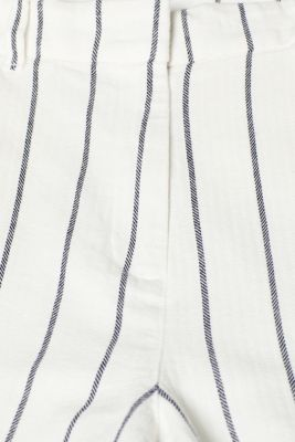 Linen blend: striped culottes