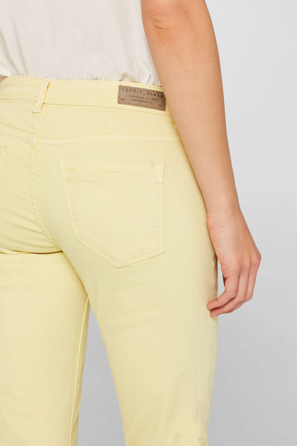Pants denim, LIGHT YELLOW, detail image number 5