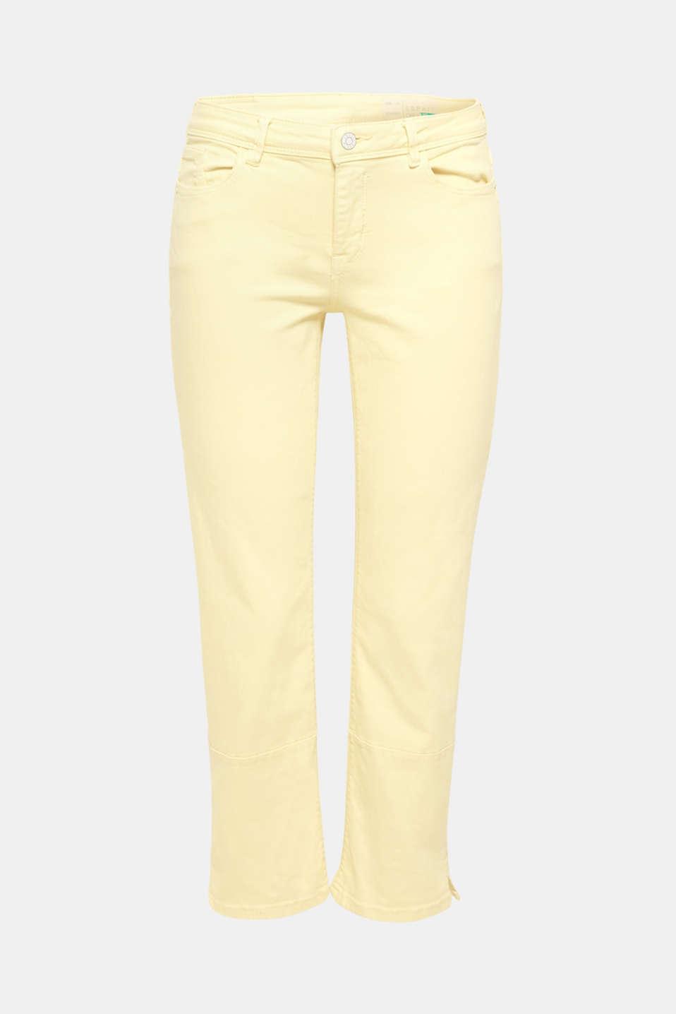 Pants denim, LIGHT YELLOW, detail image number 7